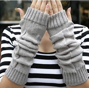 Warm cum did fluffy knitted lattice knit ★ warmers SALE price