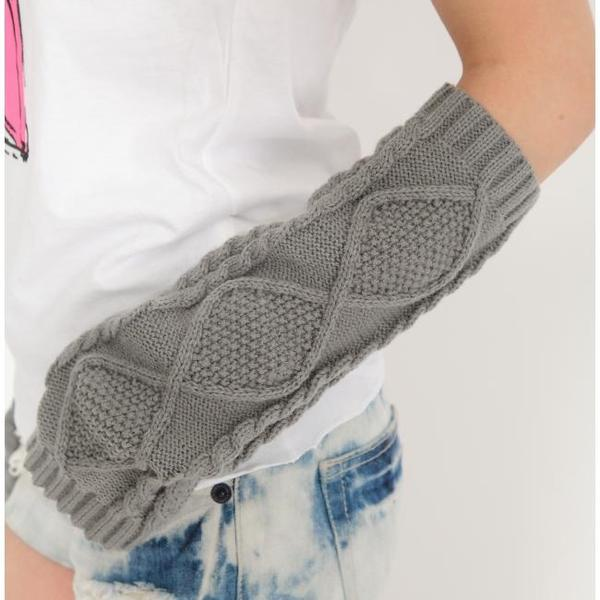 In cold weather warm! did Alan crochet knit ★ arm warmers hand warmer SALE price