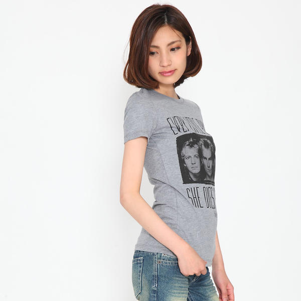 b81896c56 ... Rock T shirts band T shirt THE POLICE police EVERY LITTLE THING grey  women's t- ...
