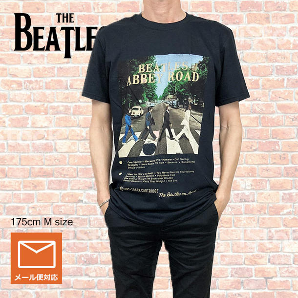 Lock T Shirt Band The Beatles ABBEY ROAD 8TRACK Abie Road Black ROCK Men