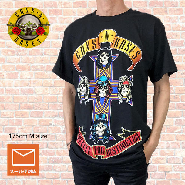 f3391bf3ce34 Lock T-shirt band T-shirt GUNS N ROSES cancers and rose