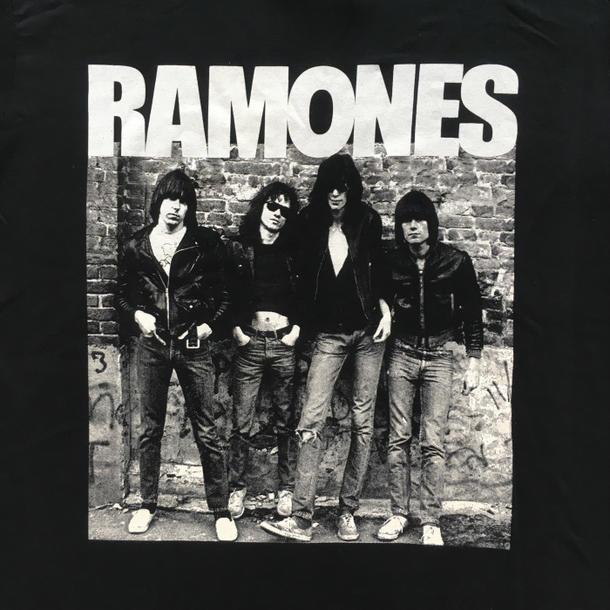 Lock T-shirt band T-shirt RAMONES ラモーンズ 1st Album アルバムジャケ T-shirt ROCK  black tour T-shirt black T-shirt van T