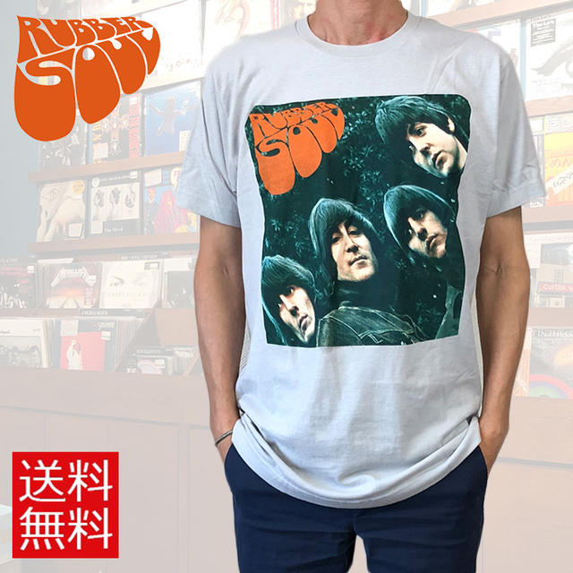61cacd9d375f tab11: The Beatles Beatles T-shirt RUBBER SOUL rubber Seoul gray album  jacket men gap Dis lock T-shirt band T-shirt   Rakuten Global Market