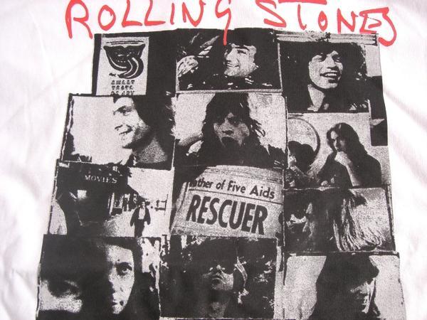 锁头T恤带T恤Rolling Stones滚石EXILE ON MAIN ST照片T恤白石头T恤