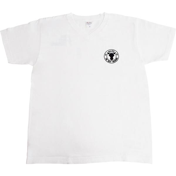 TBT-Original THE BEST TREASURE VネックTシャツ 白 4.3オンス 綿100% Lサイズ Sサイズ Mサイズ XSサイズ 舗 情熱セール