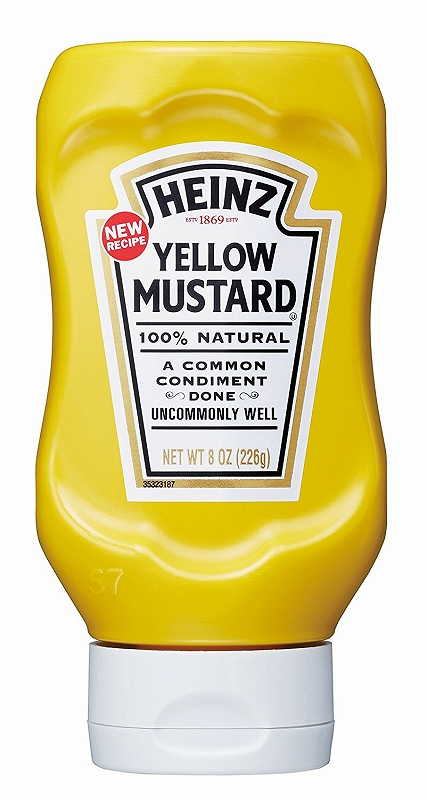 在庫一掃売り切りセール 100%天然素材から作られた辛くないマスタード ハインツ イエローマスタード 逆さボトル 226g HEINZ レビューを書けば送料当店負担 洋風辛子 mustard 調味料