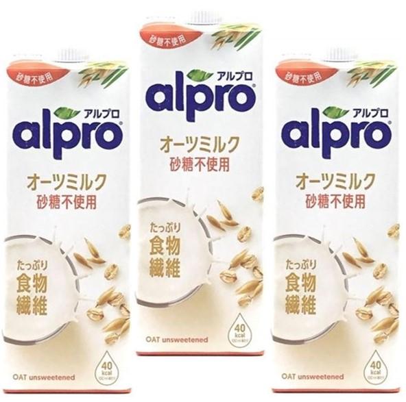 2020秋冬新作 オーツミルクは 飲む食物繊維 ダノンジャパン アルプロ たっぷり食物繊維 オーツミルク砂糖不使用 オーツ麦飲料 えん麦飲料 アイテム勢ぞろい 1000ml×3本 1L