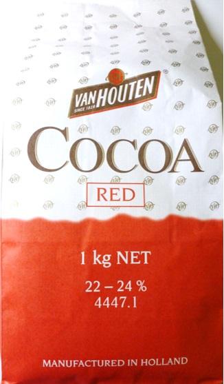 贈り物 安心の宅配便なので他商品も無制限で同梱可 宅配便送料無料 トラスト バンホーテン ココアパウダー 1kg カカオパウダー Van レッド Houten