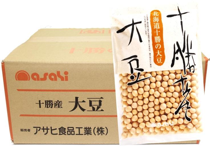 大豆 流通革命 北海道十勝産 250g×20袋×10ケース  【北海道産 業務用販売 BTOB 小売用 アサヒ食品工業】