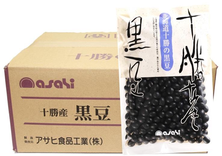流通革命 北海道十勝産 黒豆 250g×20袋×4ケース  【北海道産 業務用販売 BTOB 小売用 アサヒ食品工業 黒大豆】