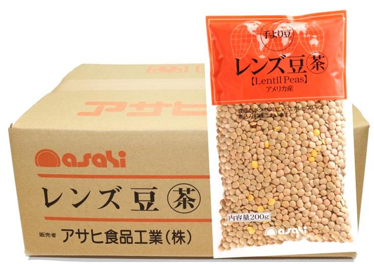 流通革命 レンズ豆(皮つき) 200g×20袋×4ケース  【輸入豆 海外豆 業務用販売 BTOB 小売用 アサヒ食品工業】