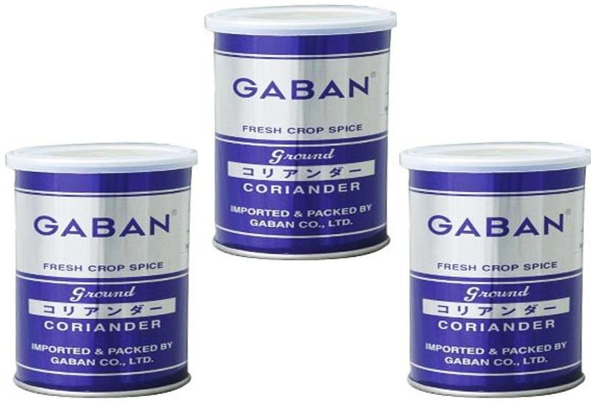 セイジとレモンを合わせたような香りが特徴 GABAN コリアンダーパウダー 缶 220g×3個 スパイス こえんどろ Coriandre 香辛料 ハウス食品 セール特価品 粉 業務用 人気の定番