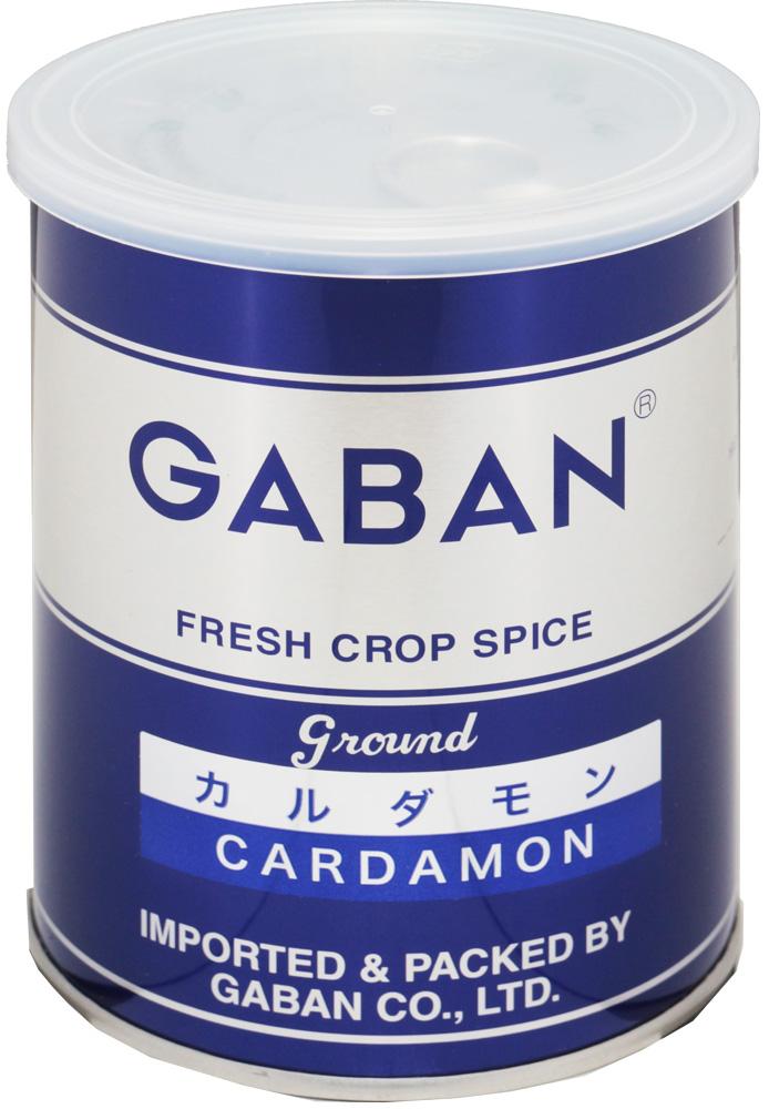 GABAN カルダモンパウダー(缶) 150g×12個   【スパイス ハウス食品 香辛料 粉 業務用 Cardamom しょうずく】