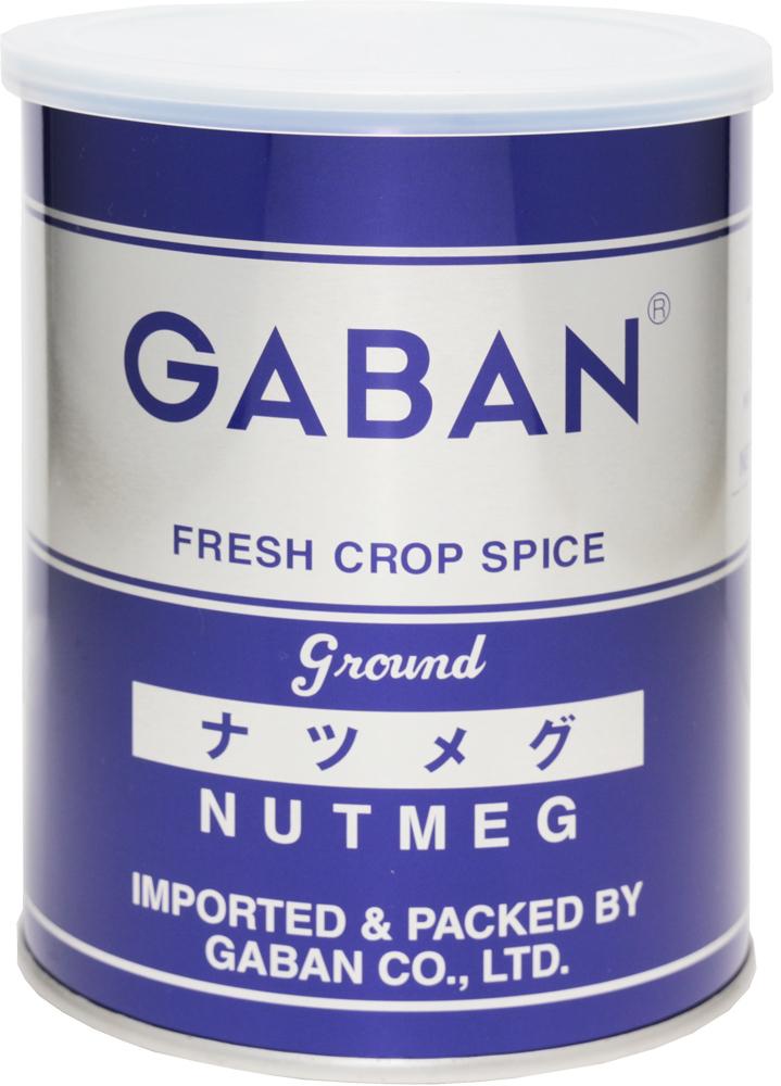 GABAN ナツメグパウダー(缶) 225g×12個   【スパイス ハウス食品 香辛料 パウダー 業務用 にくずく】