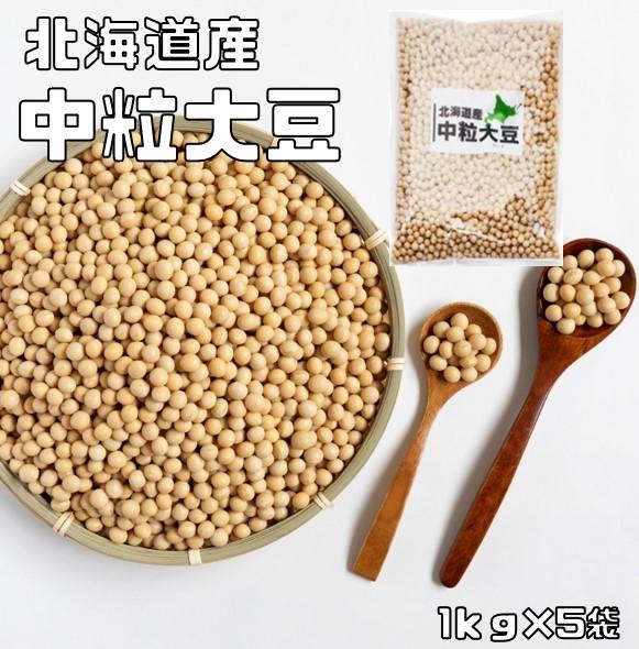 ポピュラーな大豆です 中粒サイズ 大豆 宅配便送料無料 まめやの底力 北海道産 販売期間 限定のお得なタイムセール 中粒大豆 国産 5kg 1kg×5袋 だいず とよまさり リニューアル 爆売り