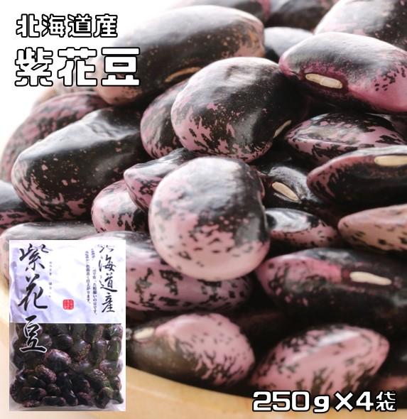 現品 販売期間 限定のお得なタイムセール 白花豆の紫バージョン 大粒の煮豆が美味 豆力 紫花豆 1kg 北海道産