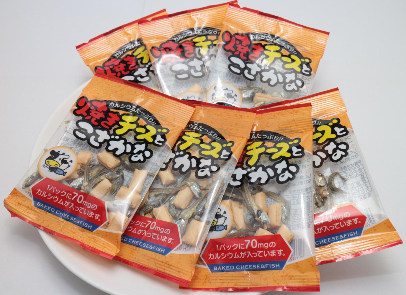扇屋食品 焼きチーズとこざかな  7g×20P×20袋   【個包装 小魚 おつまみ 珍味 国産 国内産 ケース販売】