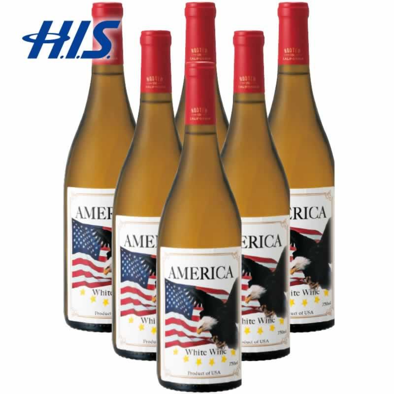 【クーポンでお得!】 HIS アメリカ お土産 アメリカンイーグル 白ワイン 6本(アメリカ 土産 お土産 みやげ おみやげ ワイン 白ワイン 酒 まとめ買い)