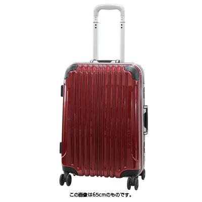 【お得なクーポン配布中!】 HIS スーツケース Vivache ビバーシェ UH Mサイズ 【65cm】 レッド (旅行用品 スーツケース フレームタイプ Mサイズ 中型 4輪 TSAロック 3~5泊 学生旅行 家族旅行 海外旅行)