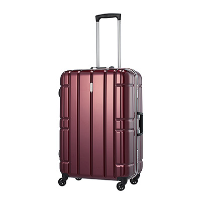 【クーポンでお得!】 HIS スーツケース アリマックス キャリーケース AliMaxG 【65.5cm】D260 ワイン(旅行用品 スーツケース フレームタイプ Lサイズ 大型 4輪 TSAロック ポリカーボネート 軽量 5~7泊 長期旅行 家族旅行)