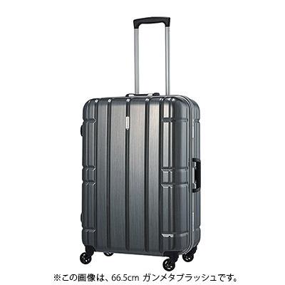 【クーポンでお得!】 HIS スーツケース アリマックス キャリーケース AliMaxG 【69cm】D275 ガンメタブラッシュ(旅行用品 スーツケース フレームタイプ LLサイズ 大型 4輪 TSAロック ポリカーボネート 軽量 8泊~ 長期旅行)