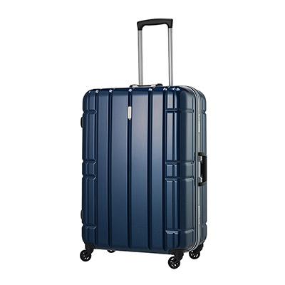 【クーポンでお得!】 HIS スーツケース アリマックス キャリーケース AliMaxG 【69cm】D275 ネイビー(旅行用品 スーツケース フレームタイプ LLサイズ 大型 4輪 TSAロック ポリカーボネート 軽量 8泊~ 長期旅行)