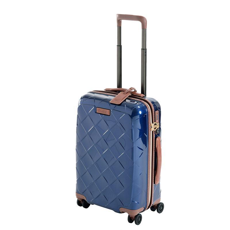【お得なクーポン配布中!】 HIS スーツケース ストラティック レザー&モア 【51cm】3-9902-55 ネイビーブルー(旅行用品 スーツケース 機内持込スーツケース TSAロック 小型 Sサイズ ジッパータイプ フロントオープン 国内旅行 2~3泊)
