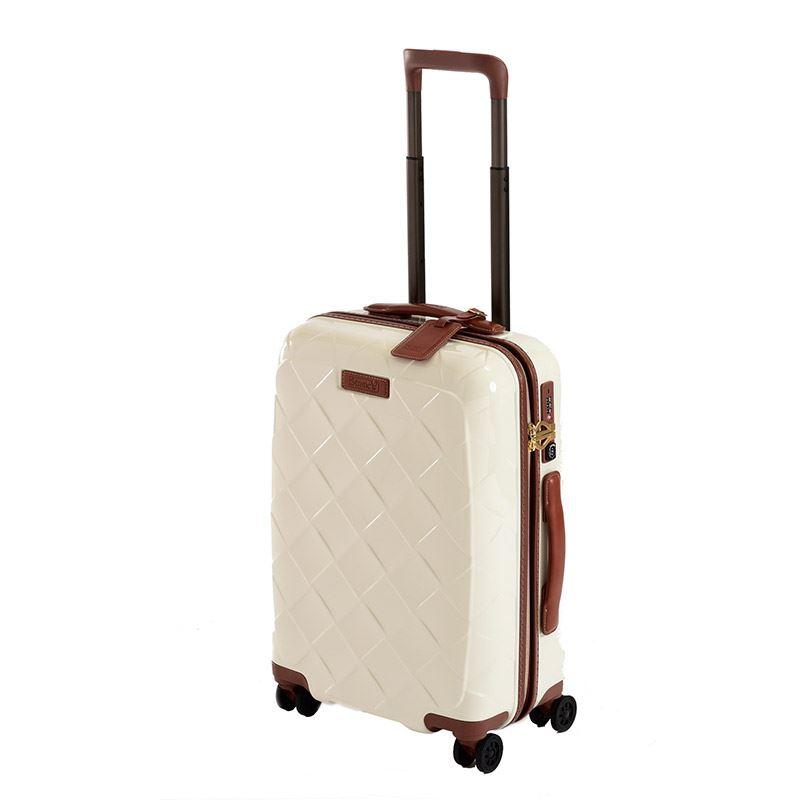 【お得なクーポン配布中!】 HIS スーツケース ストラティック レザー&モア 【51cm】3-9902-55 ミルク(旅行用品 スーツケース 機内持込スーツケース TSAロック 小型 Sサイズ ジッパータイプ フロントオープン 国内旅行 2~3泊)
