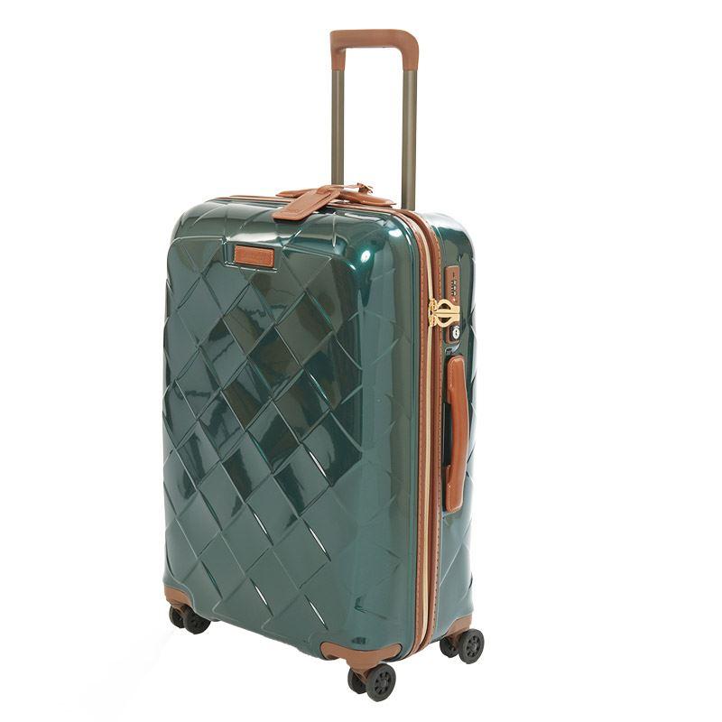 【クーポンでお得!】 HIS スーツケース ストラティック レザー&モア M 【62cm】 3-9902-65 ダークグリーン(旅行用品 スーツケース TSAロック 中型 ジッパータイプ 海外旅行 国内旅行 3~5泊 学生旅行)