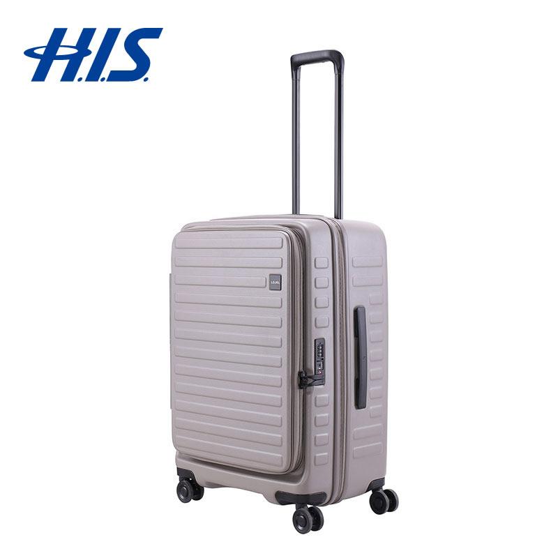【クーポンでお得!】 HIS スーツケース ロジェール LOJEL CUBO-M グレー   ハードキャリー Mサイズ 70L 5~7泊用 ( 旅行用品 スーツケース 出張 ビジネスバッグ 国内旅行 海外旅行 修学旅行 )