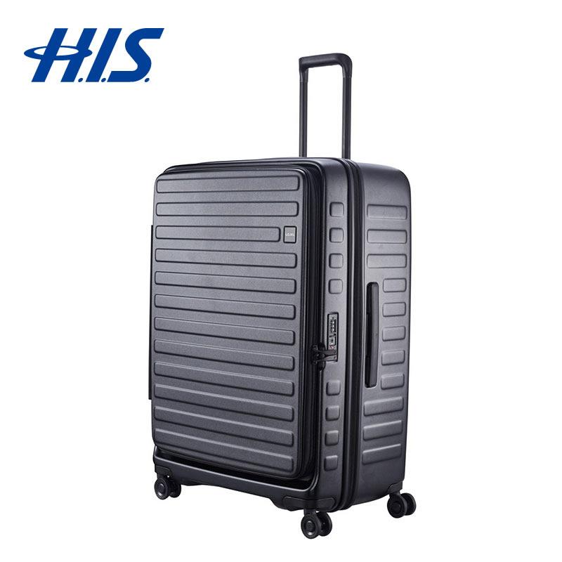 【クーポンでお得!】 HIS スーツケース ロジェール LOJEL CUBO-L ブラック   ハードキャリー Lサイズ 100L 長期滞在用 ( 旅行用品 スーツケース 大型 出張 ビジネスバッグ 国内旅行 家族旅行 海外旅行 )