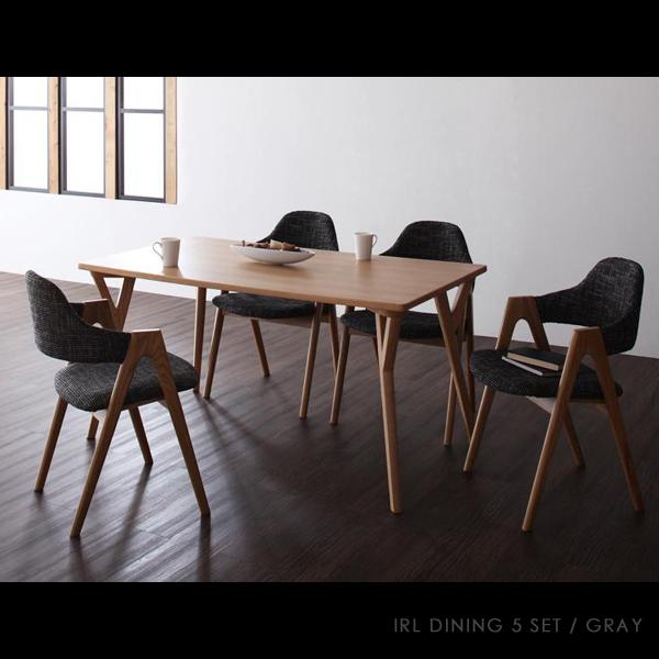 【商品名】 IRL ダイニング 5点 セット【サイズ】 テーブル 幅140 奥行80 高さ70cm【カラー】 タモ突板 天然木 タモ 無垢材ダイニングテーブル ダイニングチェア 食卓 木製シンプル 北欧 カフェダイニング 130 150 椅子 チェア 食卓椅子