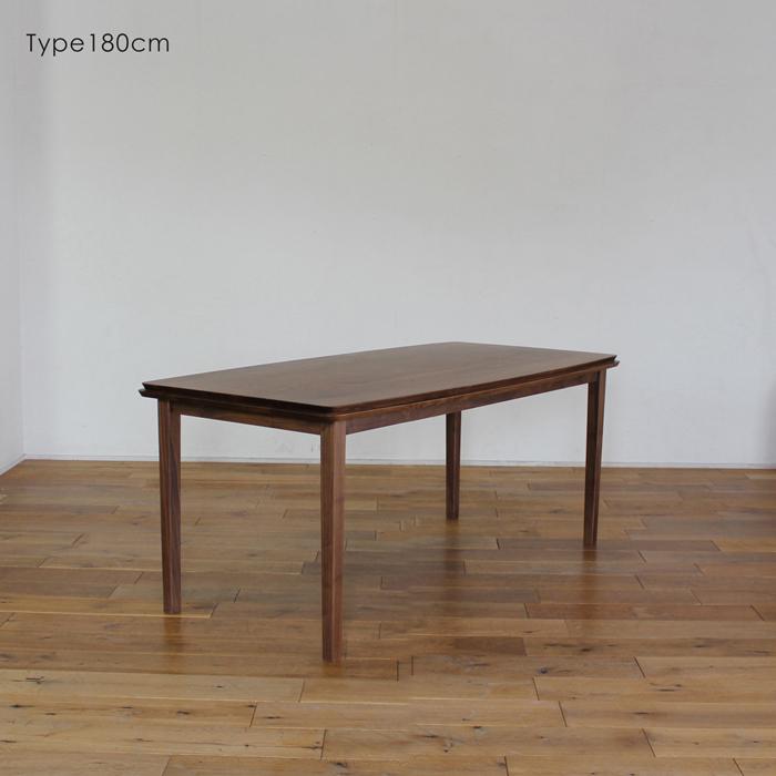LIVWOOD商品名  ハンナ ダイニングテーブル180cmカラー  ブラウン ウォールナットサイズ  幅 1800 奥行 850 高さ 720 mm生産国  国産 日本製北欧 完成品 スタイリッシュモダンオイルまたはエコウレタン塗装仕上げ