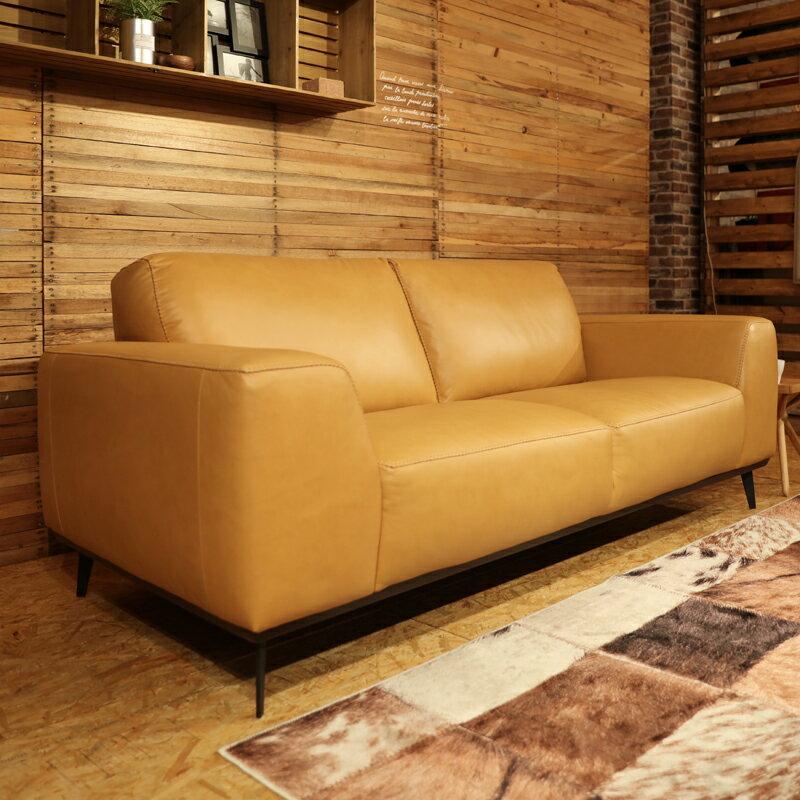 商品名|REBONレボン総本革張りソファ【カラー】 ヌメ革色本革 ウレタンフォーム 木フレームSバネとウェービングベルトのダブルクッション構造北欧 sofa 2人掛け 3人掛け SOFA