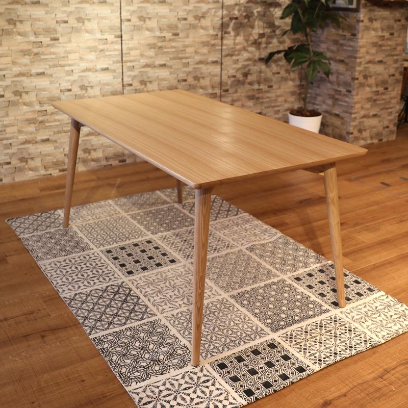 商品名|UNO ウノ 150ダイニングテーブルカラー|アッシュ ナチュラルサイズ| 幅 150cm 北欧テイスト ウレタン塗装