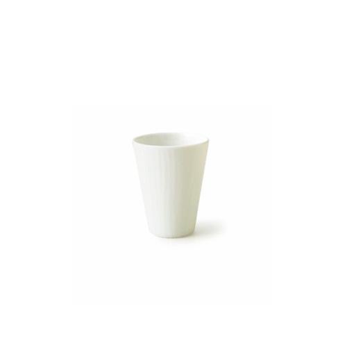 光があたるときれいなラインがうっすら浮かび上がる 国際ブランド ランキングTOP5 グレインカップ 細長 S アウトレット含む 日本製 皿 おしゃれ お皿 フリーカップ 白い食器 カップ 冷酒 アウトレット 食器 酒器 磁器 白