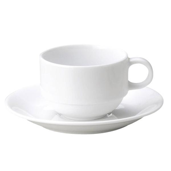 特白磁の美のうつわ マキシム スタック兼用カップ & ソーサー 白い食器 cafe カフェ 食器 おしゃれ オシャレ 業務用 日本製
