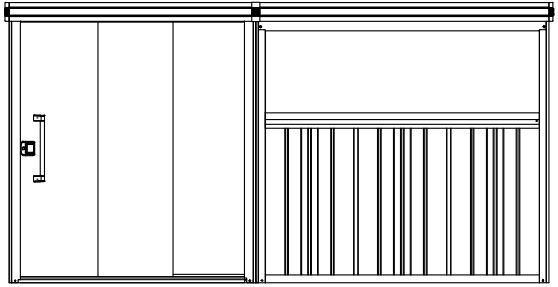 ヨドコウ ヨド物置 エルモコンビ LMD1825+LKD2225【一般型】※お客様組立品【エリア限定】●物置 屋外 収納庫 物置 おしゃれ ベランダ収納庫 屋外 スチール物置