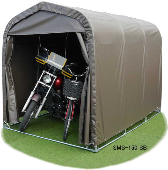 サイクルハウス SMS-150SB 自転車置き場 屋根 自転車置き場 家庭用 自転車 カバー サイクルガレージ 3台用