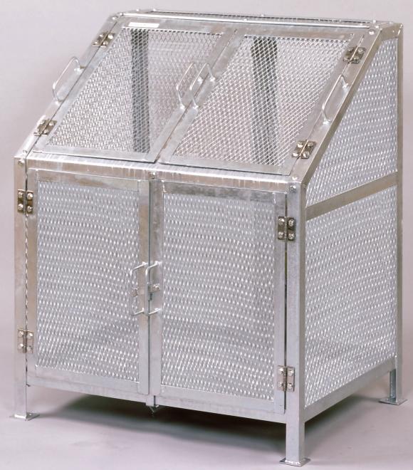 亜鉛メッキ鋼板だから丈夫で長持ち 日本メーカー新品 グリーンライフ メッシュゴミ収集庫 KDB-900N 10%OFF ダストボックス ゴミステーション 屋外 ゴミ保管庫 ゴミ箱