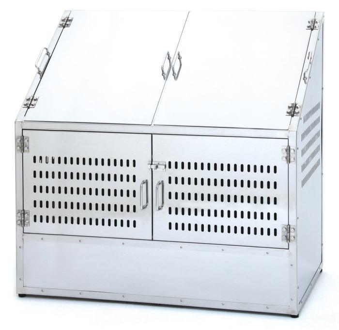 サンカ ステンレスダストBOX-S CS-29 1200タイプ 【メッシュゴミ収集庫 ダストボックス・ゴミ保管庫 ゴミステーション ゴミ箱 屋外】