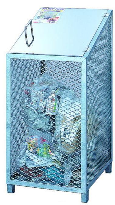 鳥獣被害対策に最適 サンカ ダストBOX-S スリム CS-03 メッシュゴミ収集庫 卓出 ゴミステーション ゴミ保管庫 屋外 ダストボックス 全国どこでも送料無料 ゴミ箱