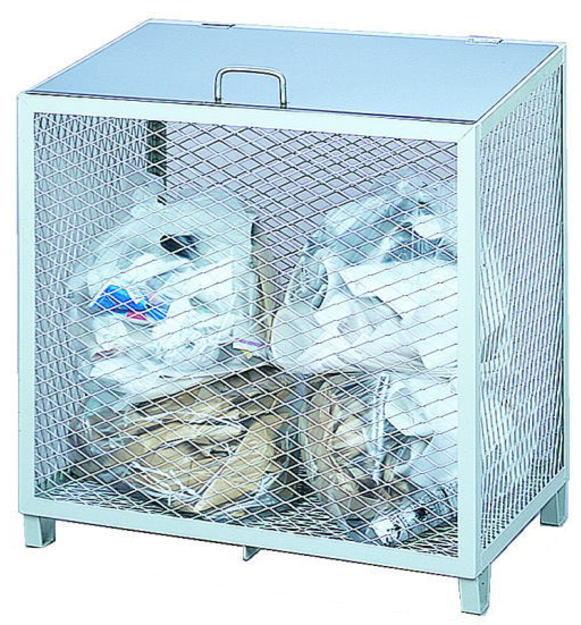 サンカ ダストBOX-S(横型) CS-05 【メッシュゴミ収集庫 ダストボックス・ゴミ保管庫 ゴミステーション ゴミ箱 屋外】