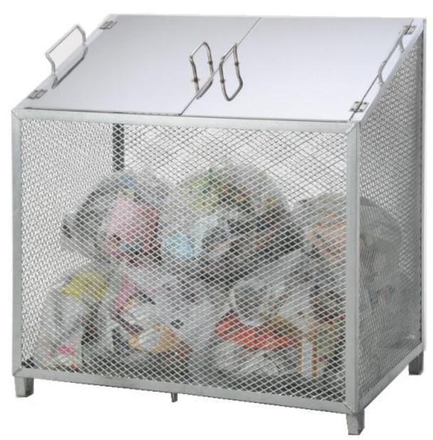 サンカ ダストBOX-S(中仕切り無しタイプ)CS-20 【メッシュゴミ収集庫 ダストボックス・ゴミ保管庫 ゴミステーション ゴミ箱 屋外】