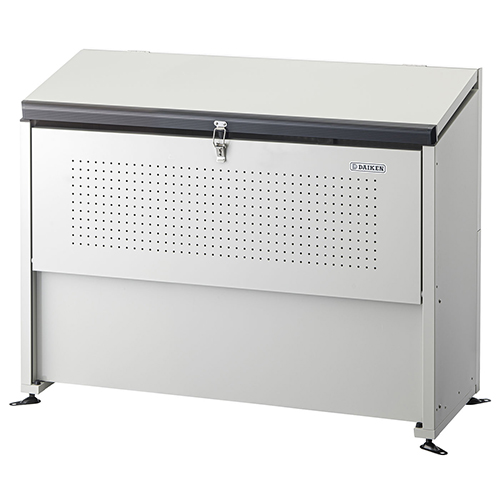 奥行520mmの省奥行タイプ 高耐久の溶融亜鉛メッキ鋼板を使用 ゴミステーション ダストボックス ダイケン クリーンストッカー 商品 ゴミ収集庫 CKE-1305M型 大決算セール 屋外 スチール製 ゴミ箱