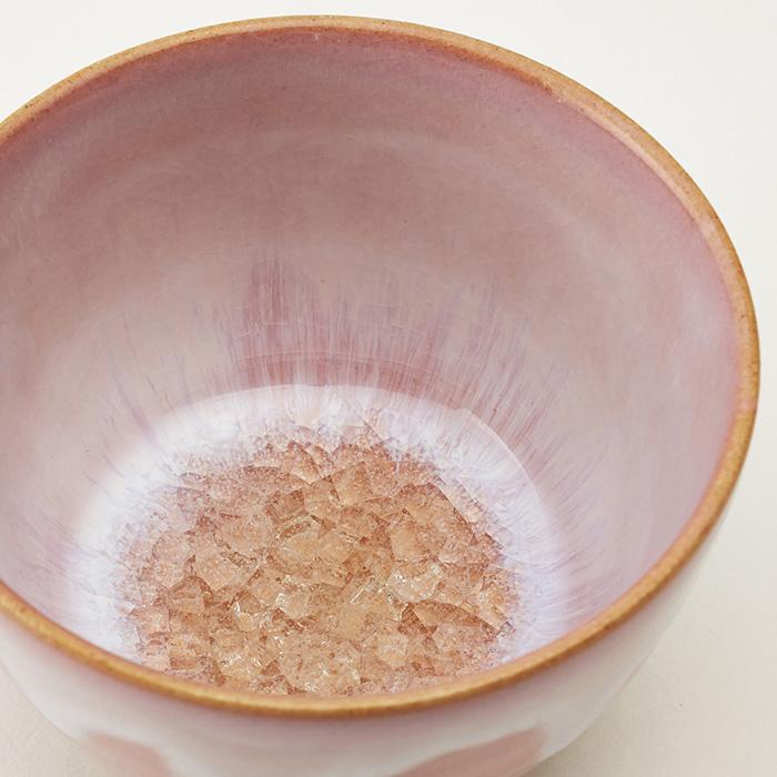 和食器 たち吉 花霞 お茶呑茶碗 桐箱入 5個1セット 558-0006 萩焼 ピンク 湯呑 おもてなし お茶 接客用 たちきち