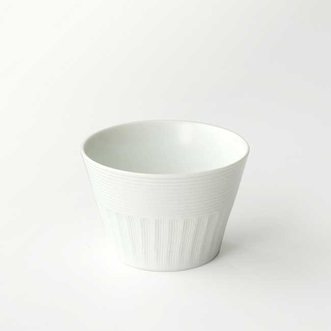 シンプルな器 カップ おうちごはん 未使用 たち吉 市松線彫 在庫一掃売り切りセール 白マット 1個 1025030040 マルチカップ