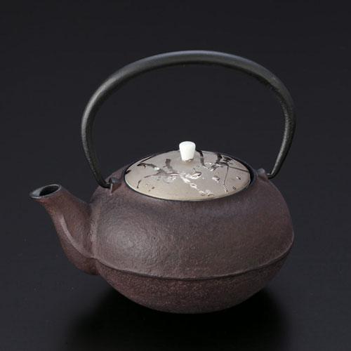 送料無料 和食器 たち吉 雪の花 鉄瓶 1個 桐箱入 760-0054 南部鉄 茶こし付き たちきち