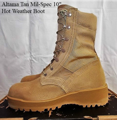 Made in USA日本初上陸!値下げしました! Altama Tan Mil Spec Hot Weather BootStyle Code 4159