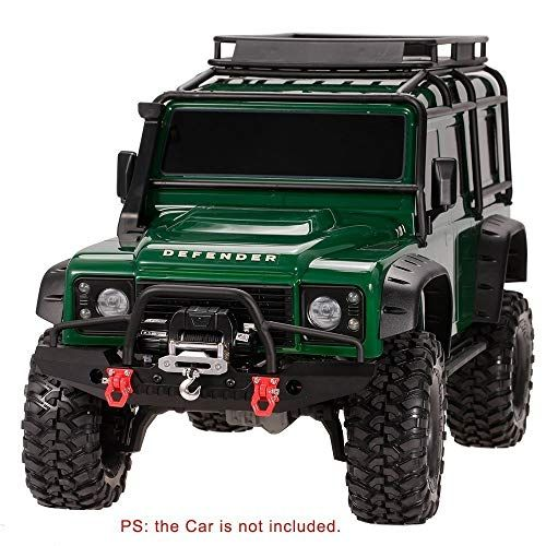 chiwanji 1:10 Metal RC Car Front Bumper with 2 LED for Axial SCX10 Crawler Body Parts